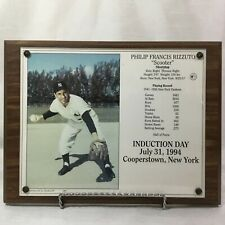 """Philip Francis Rizzuto """"Scooter"""" Induction Day Commemorative Plaque"""