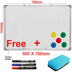 700x500MM Magnetic Dry Wipe Whiteboard White Notice Memo Board Pen Home Office