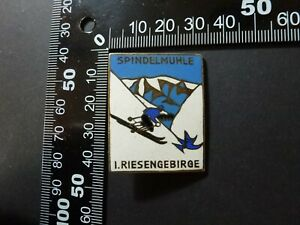 Abzeichen Anstecknadel , Spindelmühle 1. Riesengebirge Emailliert