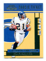 LADAINIAN TOMLINSON 2001 Playoff Contenders Rookie Ticket RC SP #150 Sample Card