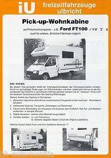 Prospekt iU Pick-up Wohnkabine auf Pritschentransporter 1990er Reisemobil