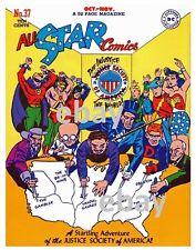 ALL-STAR COMICS #37 COVER PRINT DC Vintage art