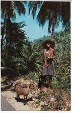 Beads Vendor, Jamaica PPC, Airmail 1966 PMK to GB