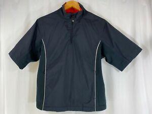 Dryjoys By FootJoy Women Black 1/4 Zip Lined S/Sleeve Golf Jacket Windbreaker S