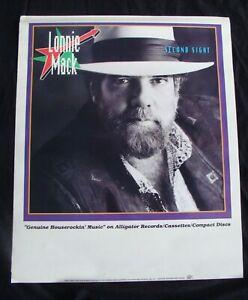 LONNIE MACK Album poster SECOND SIGHT original record store promo