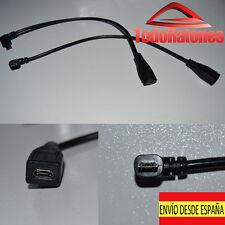 cable alargador micro usb angulo 90 evitar rotura clavija genial para tablet
