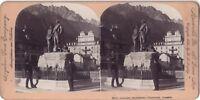 Chamonix Monumento Di Saussure Francia Foto Stereo Vintage Citrato