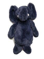 Jelly Cat Bashful Elephant Navy Blue Plush Toy Stuffed Animal 12�