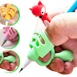 2/3 Finger Grip Portable Pencil Holder Sleeve Writing Learning Correction Tools