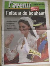 KATE ET WILLIAM : L'ALBUM DU BONHEUR - EDITION SPECIALE - 30/04/2011 -