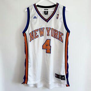 RARE VINTAGE NEW YORK KNICKS #4 NATE ROBINSON ORIGINAL ADIDAS NBA SHIRT JERSEY L