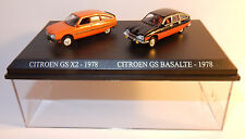 COFFRET ATLAS DUO 2 METAL UH HO 1/87 CITROEN GS X2 1978 + GS BASALTE BICOLORE