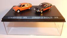 COFFRET ATLAS DUO 2 METAL UH HO 1/87 CITROEN GS X2 1978 + GS BASALTE BICOLORE