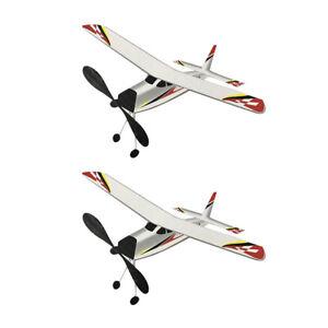 2Pcs Rubber Band Elastic Airplane Model Kids Party Glider Plane Machine Kit