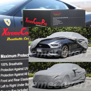 CUSTOM FIT CAR COVER GREY FOR 2015 2016 2017 2018 2019 2020 2021 FORD MUSTANG