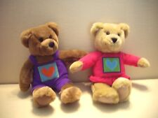 """Pair of Hallmark 10"""" Plush Kiss Kiss Bears With Magnetic Noses"""