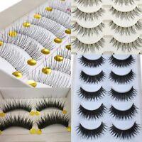 Lots Style Fashion Beauty Makeup Handmade False Natural Long EyeLashes Eyelashes