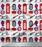Soimoi Fabric London Theme Architectural Print Fabric by the Yard - AT-508L