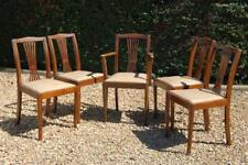 Vintage Set Of Five Kitchen Dining Chairs 1 Carver 4 Chairs Faux Leather Seats