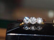 18ct Gold & Platinum Diamond Trilogy Ring 1.10cts Absolutely Beautiful Diamonds