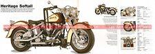 HARLEY DAVIDSON FLST 1340 Heritage Softail Classic 1988 Fiche Moto 000502