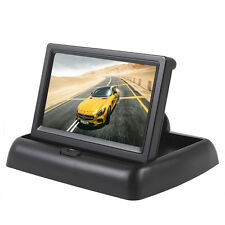 "Foldable 4.3"" TFT-LCD Display 2 Video Input Car Rear View Monitor 480x272 Pixels"