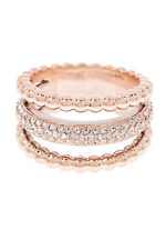 Swarovski Click White Crystal Rose Gold Plated Ring  Size 55