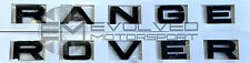 Gloss BLACK Range Rover SPORT/EVOQUE/VOGUE lettering upgrade kit FRONT+REAR E49