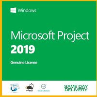 GENUINE MS Project2019 Professional genuine Product Key Activation License