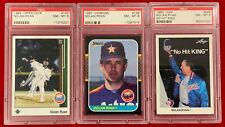 1987 Donruss #138 Nolan Ryan 1989 Upper Deck 1990 Leaf PSA 8 Baseball Cards 🔥🔥