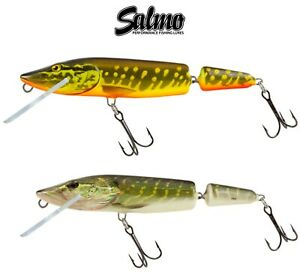 Salmo Lure Pike Jointed 11cm 13g Floating Fishing Crank Bait Predator Tackle UL