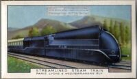 1934 Streamlined Steam Train Paris - Lyon - Mediterranean  80+ Y/O Trade Ad Card