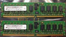 Micron 4GB 2x2GB DDR2 ECC PC2-6400 6400P MT18HTF25672PZ CL5 800MHZ (499276-061)