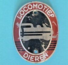 Locomotief Dieren - Vintage Metal Bicycle Head Tube Badge - Dutch