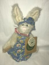 Boyd Bears Hares ROSE ANJANETTE White Bunny Rabbit Blue Floral Dress Pink Bow