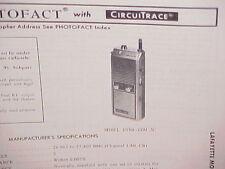 1979 LAFAYETTE CB RADIO SERVICE SHOP MANUAL MODEL DYNA-COM 3C