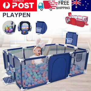 Baby Playpen Play Mat Interactive Safety Gate Slide Fence Game Gift 12 Panels