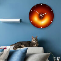 3D Large Black Hole Wall Clock Ultra-quiet Movement Glow In The Dark Home Decor