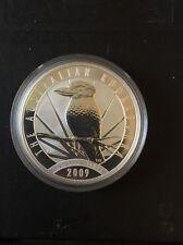 Australian Kookaburra , 2009  unc: 1 oz Troy ounce Fine Silver Coin Bullion