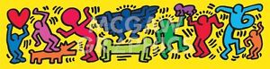 """HARING KEITH - UNTITLED, 1987 - ART PRINT POSTER 12"""" X 36"""" (2787m)"""