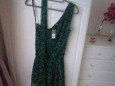 NWT  Green Black one shoulder dress size 8