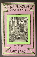 THE HAPPY YEARS 1944-48 CECIL BEATON'S DIARIES 1st Ed.~ HCDJ ~ Rare! Greta Garbo