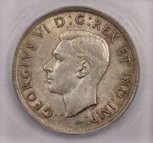 1937 Canada Dollar S$1 ICG MS61