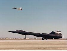 NASA - SR71B Blackbird With F-18 Chase Aircraft.  #02 NASASR71B