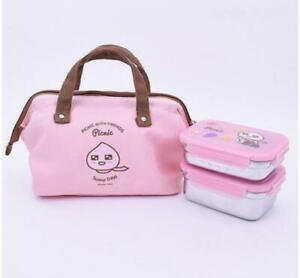 Kakao Friends Picnic Bag Stainless Lunch Box (2-Tier)-Apeach