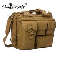 Mens Military Tactical Shoulder Messenger Bag Laptop Hand Tote Briefcase Outdoor