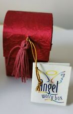 Glass Angel Worry Box with Poem Enclosed