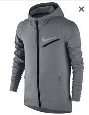 NWT Nike Boys KD Therma Hyperlite Full Zip Hoodie Grey Sz: S (803770 065) RP:$75