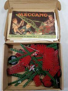 Vintage Meccano Outfit No. 3 Gear Box JOM
