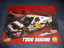 2010 TODD BODINE #30 GERMAIN RACING NASCAR POSTCARD